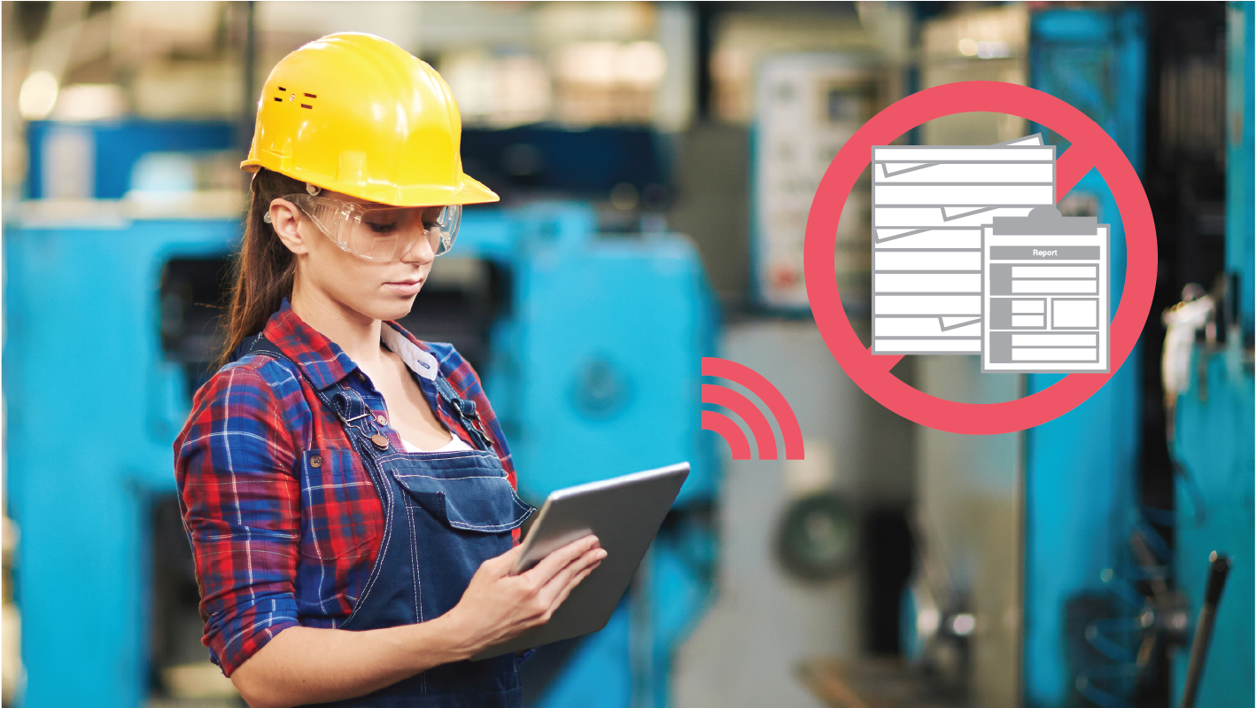 On-site paperless solution mcframe R-PAD converting handwritten paper forms into iPad data entry forms