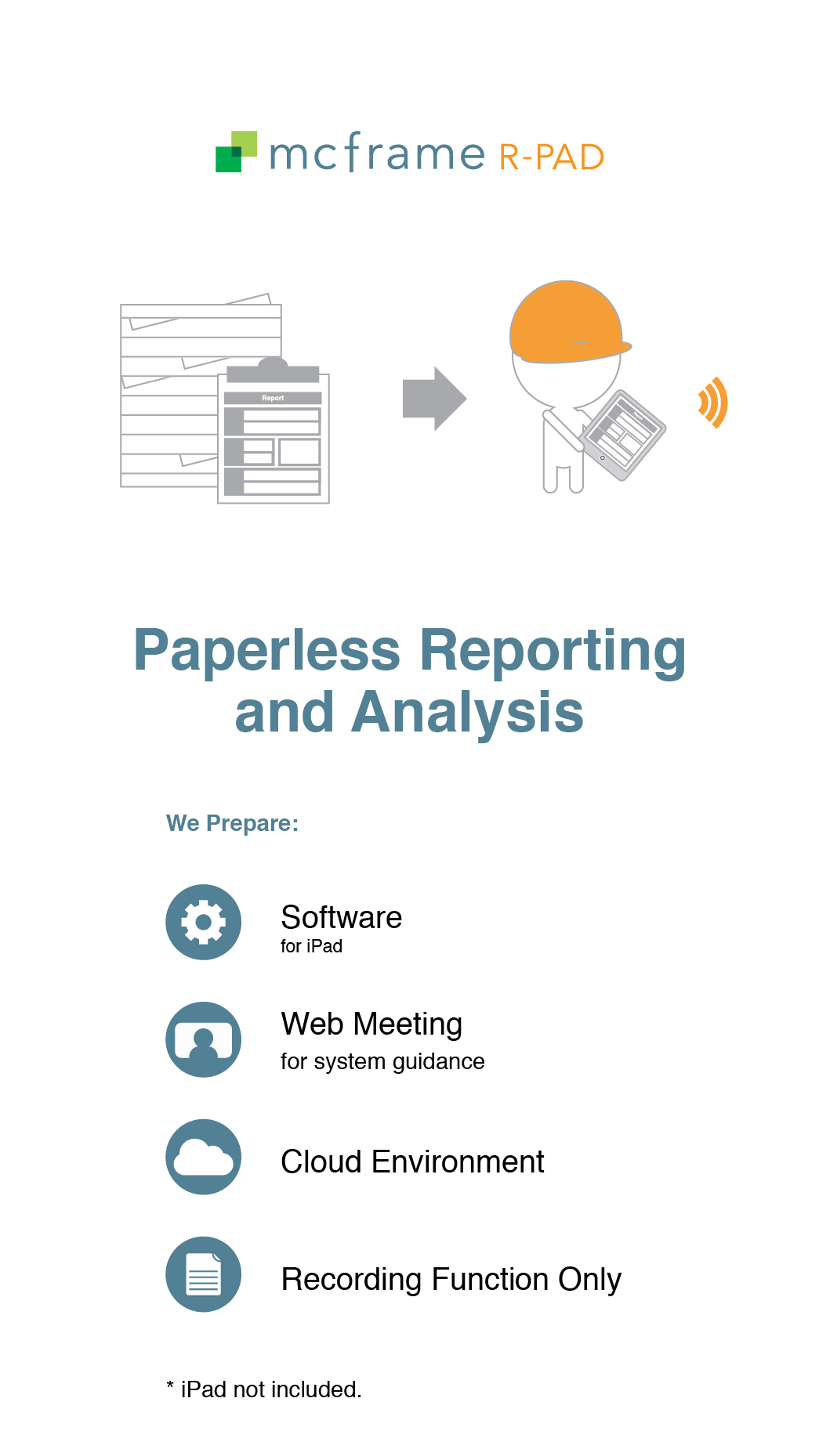 Trial for mcframe R-PAD Paperless Reporting and Analysis